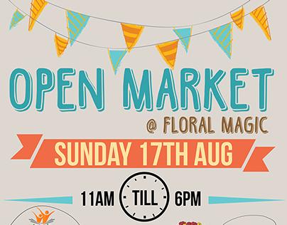 Open Market @ Floral Magic Event Poster