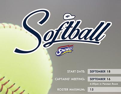 2014 Intramurals Softball Flyer