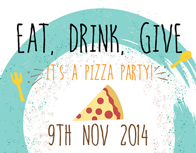 Eat, Drink, Give - Event Poster