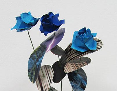 Origami Rose Centerpieces