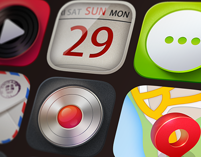 Light realistic iOS App Icons