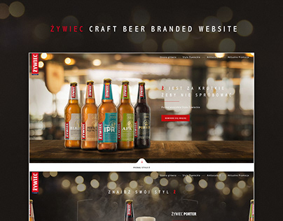 Zywiec Craft beer website