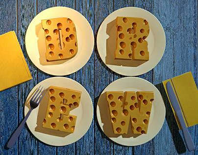 Сырные Буквы Лого/ Cheese type Logo