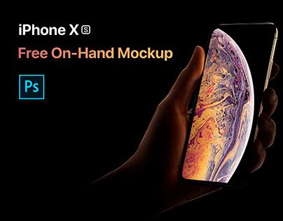 iPhone XS On-Hand Mockup