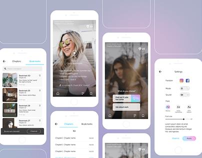UX/UI process | Interactive video novel app