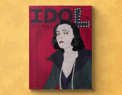 """Idol"" – Pola Negri, an illustrated book for children w"