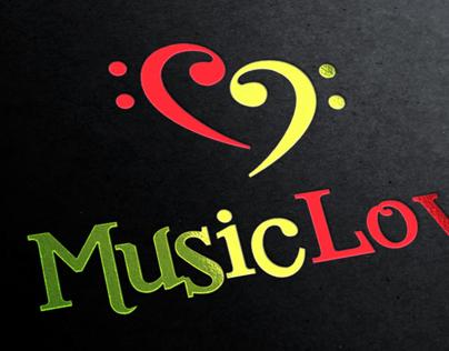 Music Love Logo Template