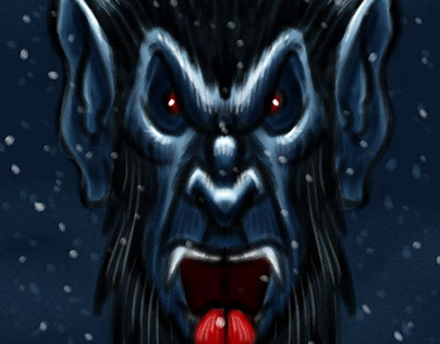 Krampus the Christmas Demon Character Sketch