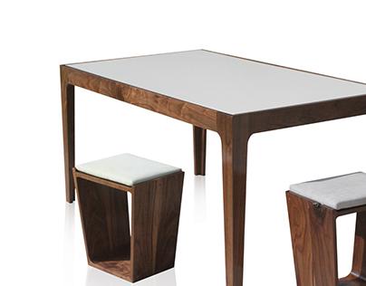 META Table and Stool Set