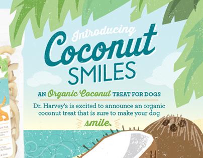 Dr. Harvey's Coconut Smiles Promotional Postcard