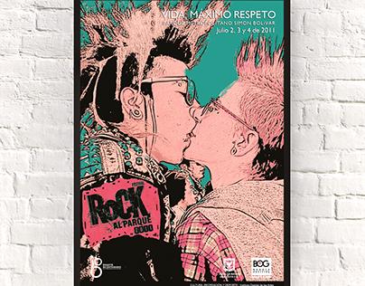Finalista diseño afiche Rock al Parque 2011