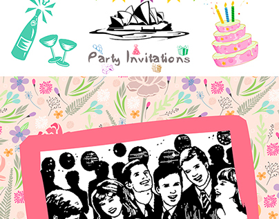 Party invitations Australia Service