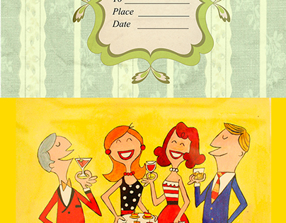 Stylish Cocktail Party Invitations