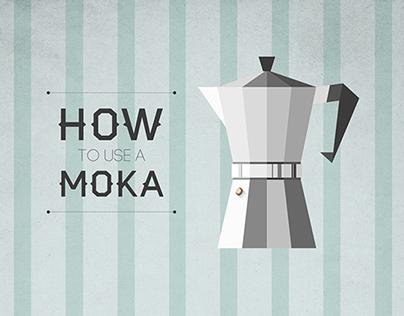 How to use a Moka   infographic