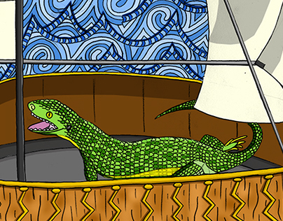 Tangaroa Editorial Illustration