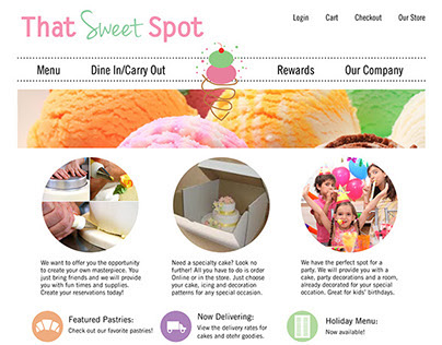 That Sweet Spot Restaurant Website Design