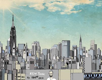 Manhattan, New York Illustration
