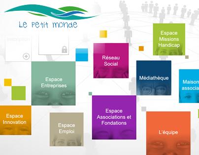 Le petit monde - Web Design for poor people social netw