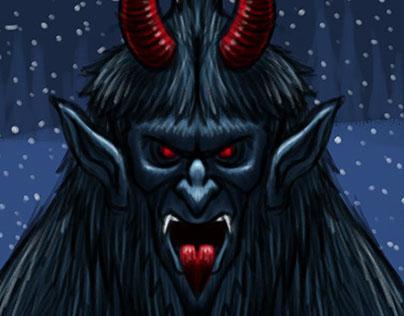Krampus Christmas Demon Character Sketch 2