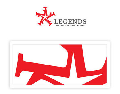 """Legends Star Logo - Created by letter """"L"""""""