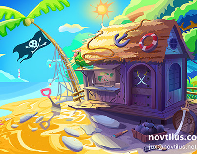 Background art for ipad game