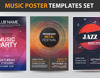 Music poster templates Design