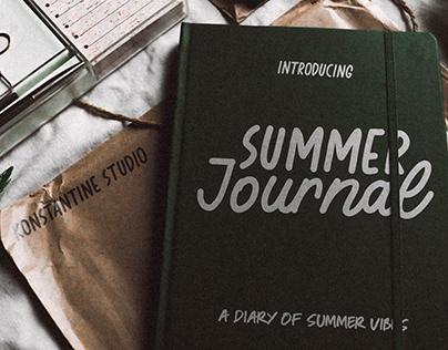 Summer Journal - Scrapbook Fonts