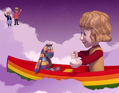 Reu The Rainbow Gnu Children's Book Illustration