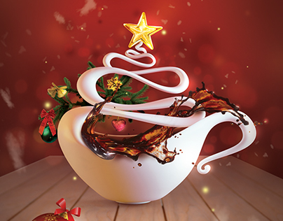 Coffeeshop Company Christmas Concept