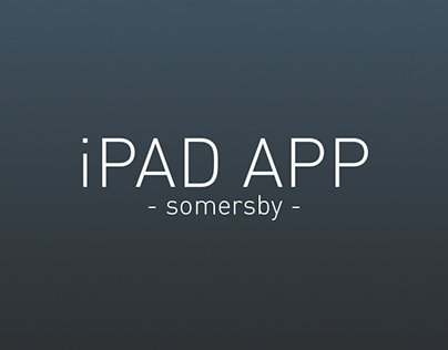 iPAD Application - Somersby