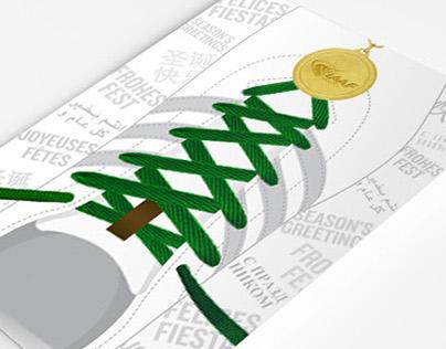IAAF Christmas Card design