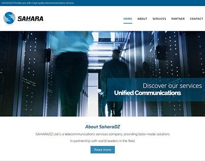 Design et développement site web - SAHARADZ