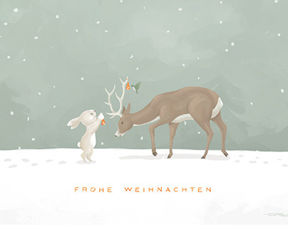 "Merry Christmas Card ""Frohe weihnachten"""