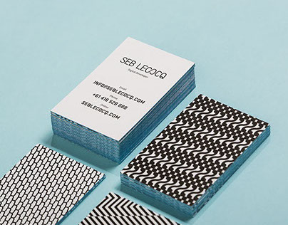 Seb Lecocq - brand identity and website design