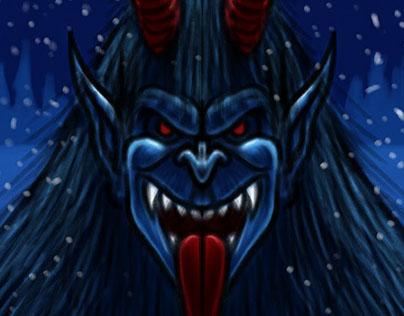 Krampus Christmas Demon Character Sketch 3