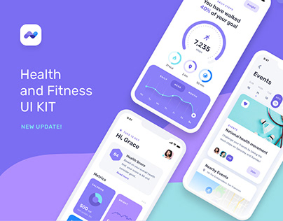 Health Fitness Mobile App UI UX Kit