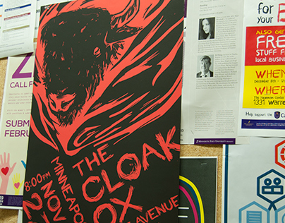 The Cloak Ox Gig Poster