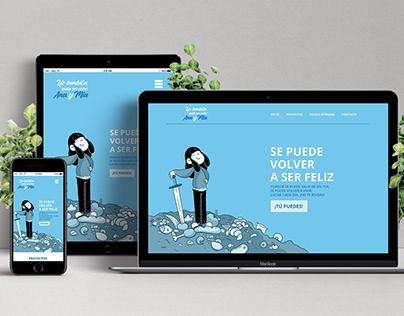 Diseño web Yo tambien quise ser como Ana y Mia