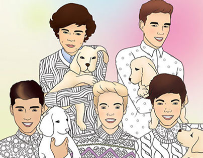 Colour One Direction - Buster Books ©GeorgieFearns