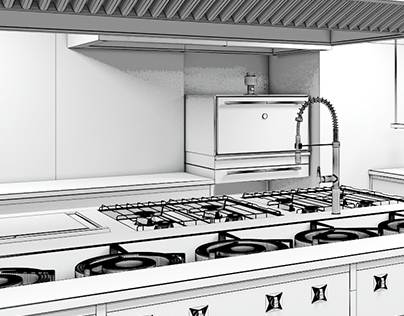 3D // Professional kitchens - Culinary centers