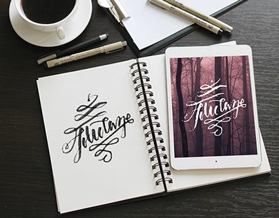 Lettering : Holidaze