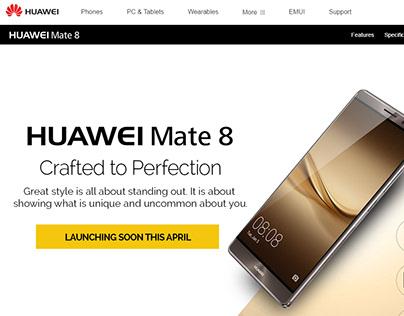 Landing Page of Huawei Mobiles