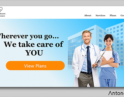 Landing Page healthcare insurance