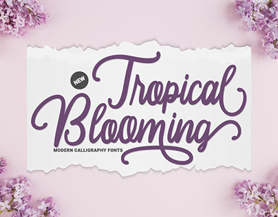 Tropical Blooming - Modern Calligraphy Fonts