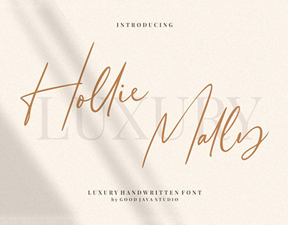 Free Hollie Mally Script Font