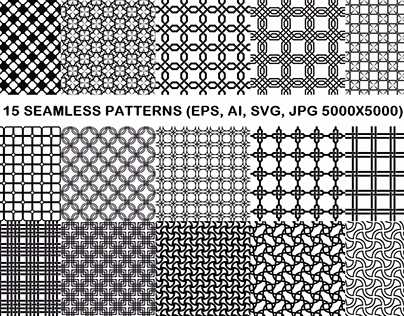 15 Seamless Grid Patterns
