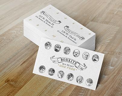 Box Kite Coffee Site & Punch/Reward Card