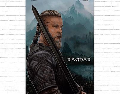 """Poster Ragnar serie """"Vikingos"""""""