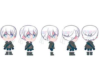 Character Turnaround: Mini 9s Nier Automata