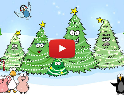 "Animated Holiday Card - ""Baby Christmas Tree"""